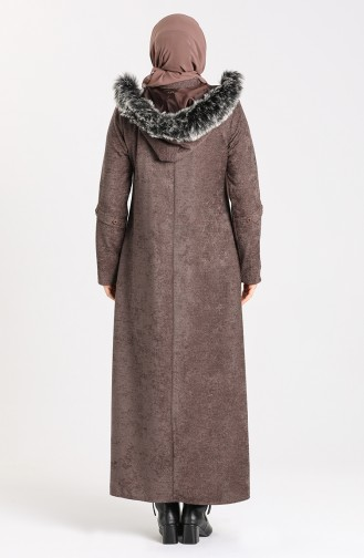 Plus Size Hooded Chenille Coat 1575-03 Mink 1575-03