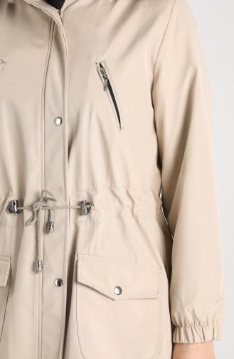 Beige Coats 9058-05