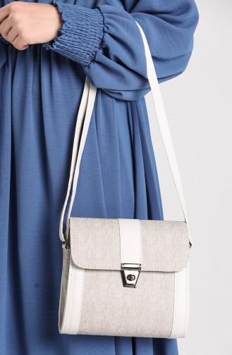Silver Gray Shoulder Bags 10702GU