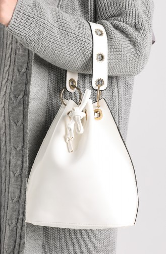 White Shoulder Bags 4017BE