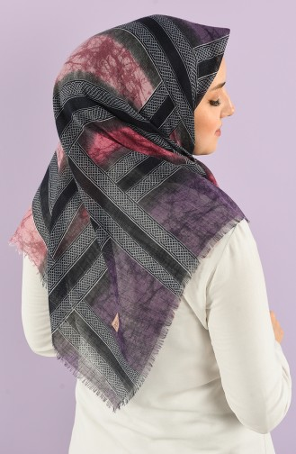 Patterned Flamed Scarf 7830-02 Purple Lilac 7830-02