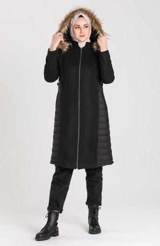 Fur Cachet Coat 5163-01 Black 5163-01