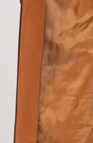 Tobacco Brown Lange Jas 5163A-01
