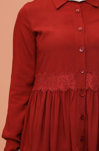 Lace Detailed Tunic 8245-02 Dark Tile 8245-02