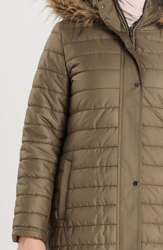 Zippered quilted Coat 5164-05 Khaki 5164-05