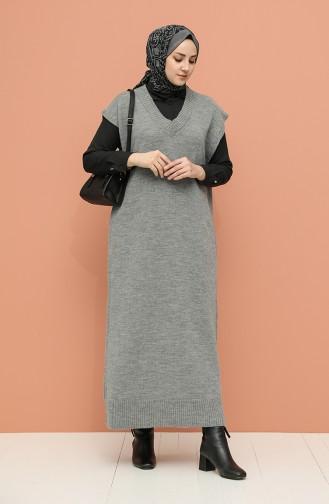 Grau Pullover 0111-04