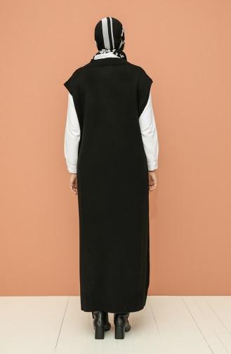 Triko Uzun Süveter 0111-05 Siyah
