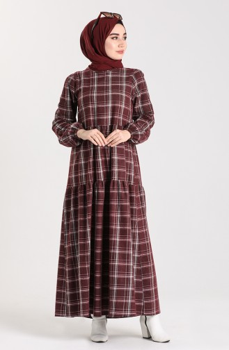 فستان أحمر كلاريت 1440-01