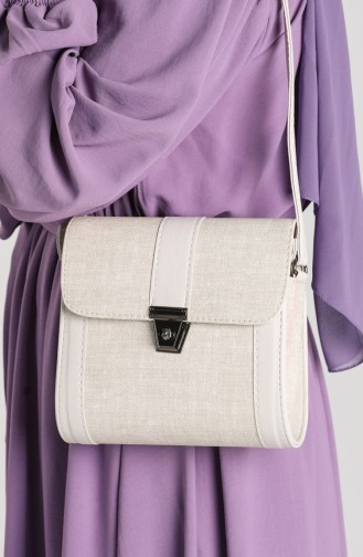 Silver Mink Shoulder Bag 10702AVI