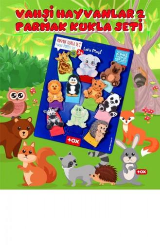 2 Set 20 Parça Tox Evcil Hayvanlar Ve Vahşi Hayvanlar Parmak Kukla 77 1 78 2 T040300015