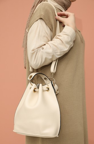 Cream Shoulder Bags 4017KR