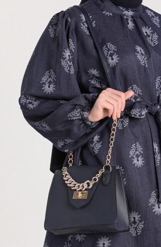 Navy Blue Shoulder Bags 10704LA