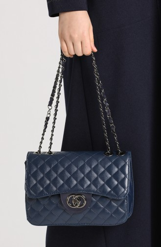 Navy Blue Shoulder Bag 10697LA