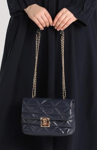 Navy Blue Shoulder Bags 10709LA