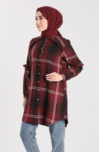 Claret red Overhemdblouse 5604-04
