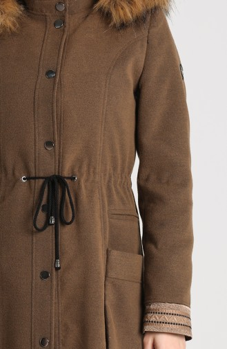 Fur Cachet Coat 1007-07 Milk Coffee 1007-07
