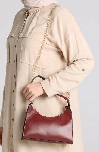 Claret Red Shoulder Bags 10695BO