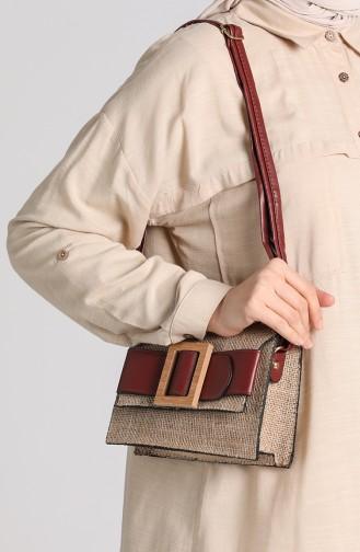 حقيبة كتف أحمر كلاريت 10696BO