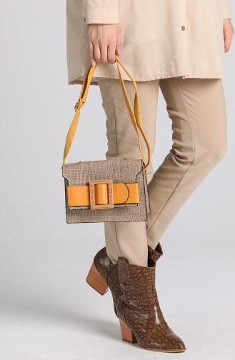 حقيبة كتف أصفر 10696SA
