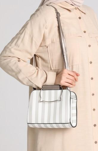 Silver Gray Shoulder Bag 10698GU