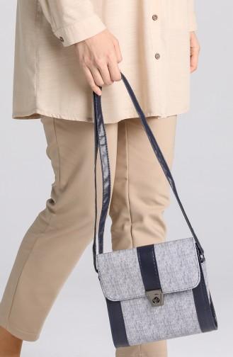 Navy Blue Shoulder Bags 10702LA