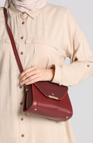 Claret Red Shoulder Bags 10706BO