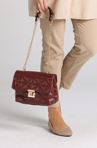 Claret Red Shoulder Bags 10709BO