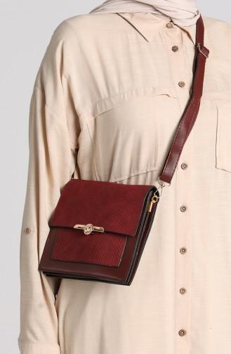 Claret Red Shoulder Bags 4015BO