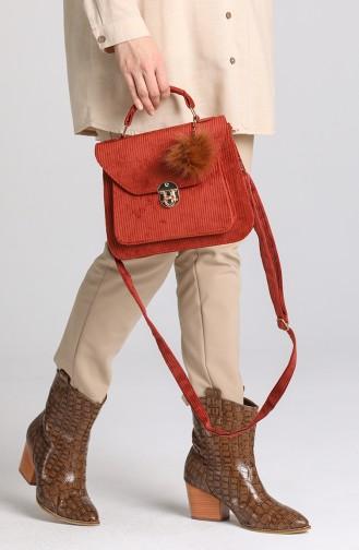 Brick Red Shoulder Bags 4012KIR