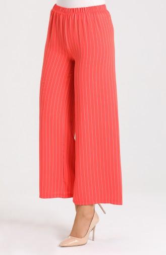Striped wide Leg Pants 9000-02 Pomegranate Flower 9000-02