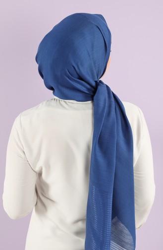 Karaca Tulle Crinkle Plain Shawl 90750-13 Saxe Blue 90750-13