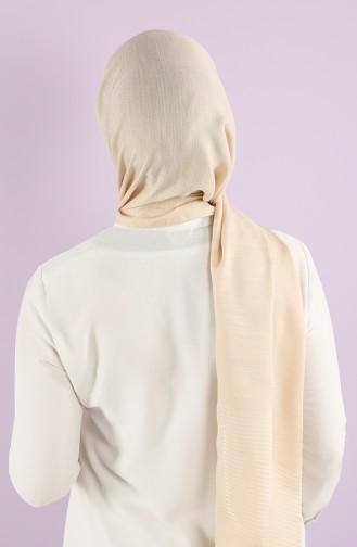 Karaca Tulle Crinkle Plain Shawl 90750-17 Dark Cream 90750-17