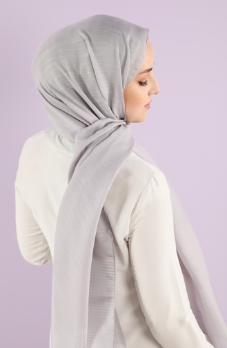 Karaca Crinkle Plain Shawl 90750-22 Silver Gray 90750-22