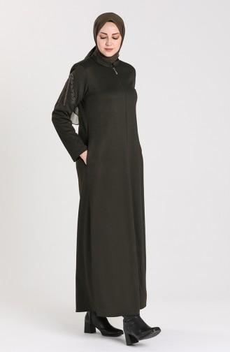 Dunkelgrün Abayas 0014-04