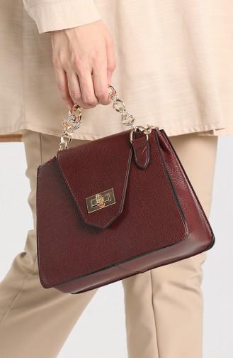Claret Red Shoulder Bags 10704BO