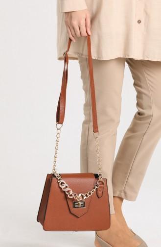 Brown Shoulder Bags 10704KA
