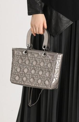 Silver Gray Shoulder Bags 10693GU