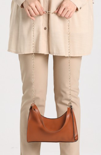 Brown Shoulder Bags 10695KA