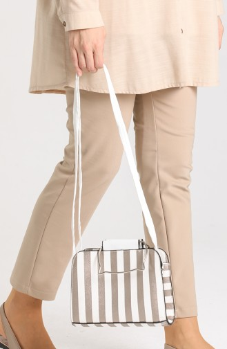 White Shoulder Bags 10698BE