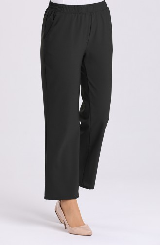 Pants with Elastic waist Pockets 4369pnt-01 Dark Green 4369PNT-01