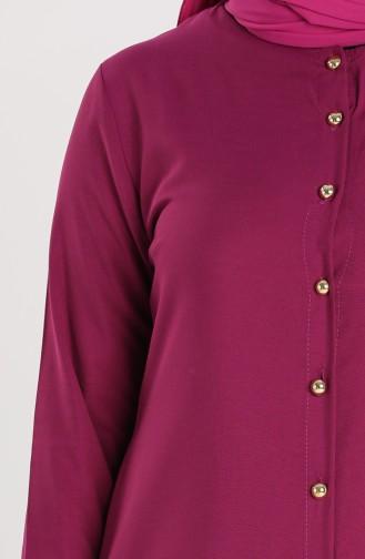 Buttoned Tunic 1003-02 Damson 1003-02