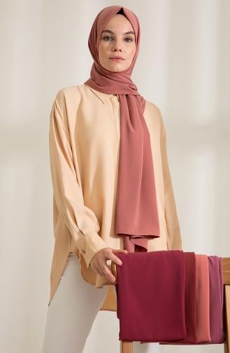 Pure Scarfs Plain Medina Silk Scarf 1mi1-25 Pink 1Mİ1-25
