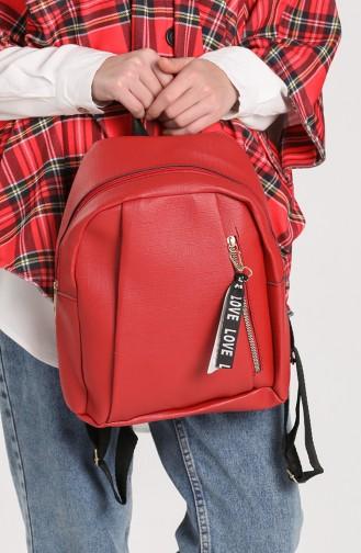 Brick Red Backpack 10705KI