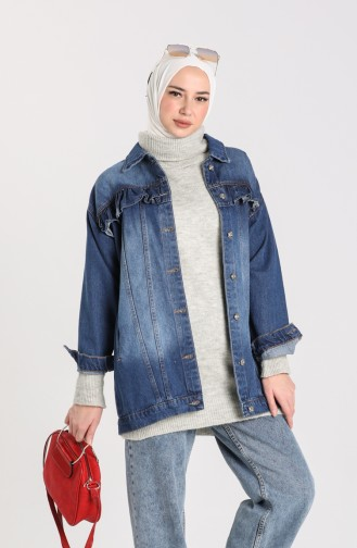 الجاكيت أزرق جينز 1128-01