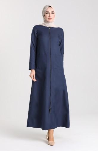 Navy Blue Abaya 4054-01