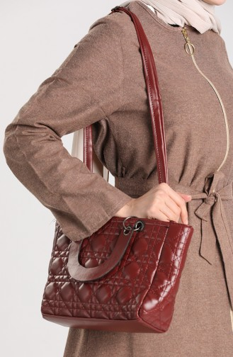 حقيبة كتف أحمر كلاريت 10693BO