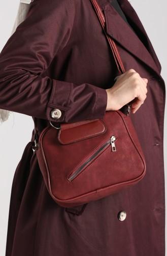 Claret Red Shoulder Bags 10694BO