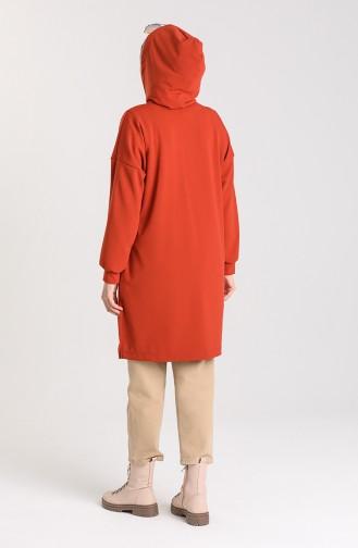 قميص رياضي قرميدي 1140-02