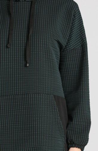 Garnili Tunik Pantolon İkili Takım 5347-05 Zümrüt Yeşili
