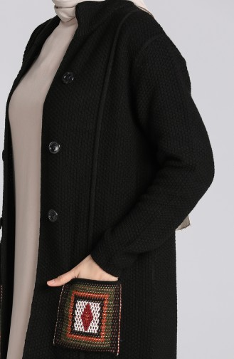 Knitwear Sweater with Pockets 5025-07 Black 5025-07